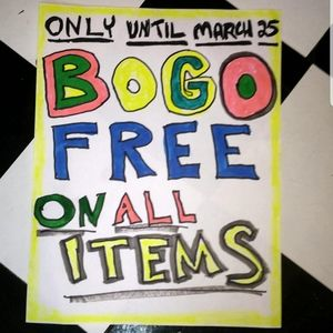 YAY! BOGO FREE sale on all items in my closet!